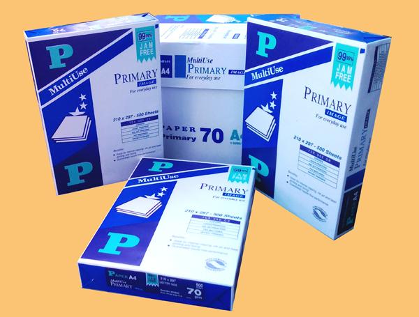 Giấy chữ P A4 có thùng 70g/m2